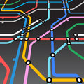 Abstract metro scheme Royalty Free Stock Photography