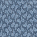 Abstract microbial texture - seamless pattern, blue jeans surface Royalty Free Stock Photo