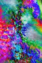 Manipulated, abstract micrograph of bracts of a daisy. Royalty Free Stock Photo