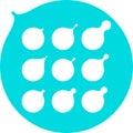 Abstract milk, water drops, oil vector logo templat Royalty Free Stock Photo