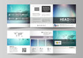 The abstract minimalistic vector illustration of the editable layout. Two creative covers design templates for square