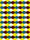 Abstract mix geometrical pattern with color backgound Royalty Free Stock Photo