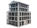 Abstract model of five storey building Stock Photo