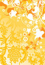 Abstract modern background with floral elements, vector illustra Royalty Free Stock Images