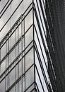 Abstract of modern building glass corner facade Royalty Free Stock Photo