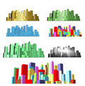 Abstract modern city Royalty Free Stock Images