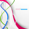 Abstract modern design background with colored waves for Stock Photo