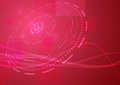 Abstract modern hi tech background in red colour clip art Stock Images