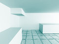 Abstract Modern White Architecture Empty Interior Background Royalty Free Stock Photo