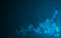 Abstract molecular hexagon pattern tech sci fi design concept background Royalty Free Stock Photo