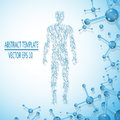 Abstract molecule based human figure concept