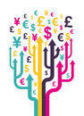 Abstract money tree Stock Photo