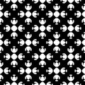 Abstract monochrome seamless pattern, Asian style
