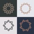 Abstract monogram elegant logo icon vector design. Royalty Free Stock Photo