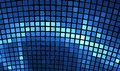 Abstract mosaic background. Bright blue disco fractal Royalty Free Stock Photo