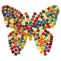 Abstract Mosaic butterfly illustration Royalty Free Stock Photo