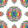 Abstract mosaic colorful seamless background, vector