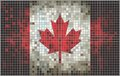 Abstract Mosaic flag of Canada Stock Image