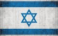 Abstract mosaic flag of israel the national grunge vector Stock Image