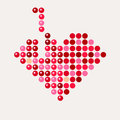 Abstract mosaic heart for Valentine`s Day. vector