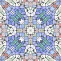 Abstract mosaic pattern in historical style