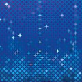Abstract mosaic in royal blue vector detailed background with colorful elements like bursting stars or glittering gemstones Royalty Free Stock Images