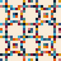 Abstract mosaic tiles, seamless geometric pattern Royalty Free Stock Photo