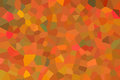 An abstract mosaic wallpaper pattern designed in bright orange, yellow, red and green colors