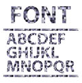 Abstract mosaics alphabet set font vector illust illustration eps Royalty Free Stock Photos