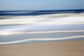Abstract and Motion Blur Seascape blue, beige and white Royalty Free Stock Photo