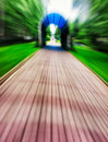 Abstract motion gate path road Royalty Free Stock Photo