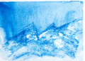 Abstract mountain landscape with watercolor paint