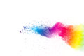 Abstract multi colored powder explosion