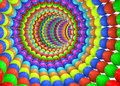 Abstract multi colored tunnel of balls Stock Image