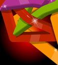 Abstract multi colour d shapes full editable vector illustration Royalty Free Stock Image
