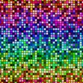 Abstract multicolor mosaic tile pattern, Colorful tiled texture background, Rainbow colored checked seamless illustration Royalty Free Stock Photo