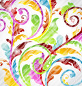 Abstract multicolor ornamental wallpaper Royalty Free Stock Image
