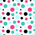 Abstract multicolor seamless pattern background illustration with circles Royalty Free Stock Photo