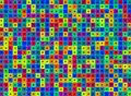 Abstract multicolor squares  background Stock Image