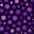 Abstract multicolor star firework background. Circles seamless pattern. Royalty Free Stock Photo