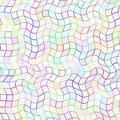 Abstract multicolor wavy tile pattern, Colorful wave tiled texture background, Simple checked seamless illustration Royalty Free Stock Photo