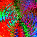 Abstract multicolored background, optical effect, digital illustration, Royalty Free Stock Photo