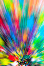 Abstract multicolored background rays of colorful radial blur streaks light sunburst or starburst versicolor light digitally Royalty Free Stock Images
