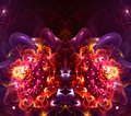Artistic abstract fractal 3d computer generated flower fractals background