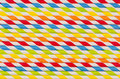 Abstract multicolored rainbow geometric striped background of beverage straw. Royalty Free Stock Photo
