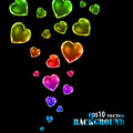 Abstract multicolored Valentine's day background Stock Photo