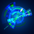 Abstract multilayer blue color gamma circle technology background colors Stock Photo
