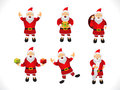 Abstract multiple santa icon set vector illustration Royalty Free Stock Images