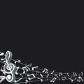 Abstract Music Background. Vec...