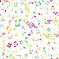 Abstract music colorful notes seamless pattern background vector illustration for your design Royalty Free Stock Photo